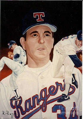 Nolan Ryan Painting - Nolan Ryan Medley by Rosario Piazza