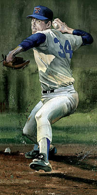 Texas Rangers Painting - Nolan Ryan by Rich Marks