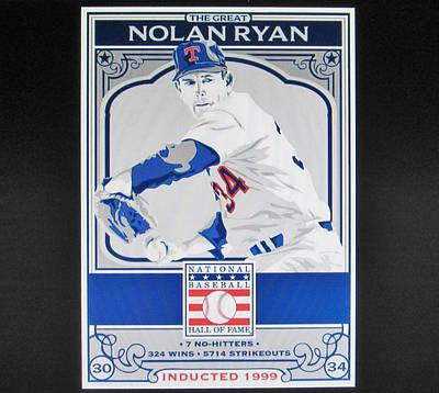 Nolan Ryan Photograph - Nolan Ryan Texas Rangers by Donna Wilson