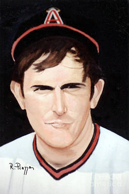 Painting - Nolan Ryan With The Angels by Rosario Piazza