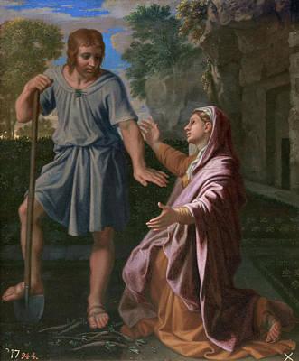 Jesus Painting - Noli Me Tangere by Nicolas Poussin