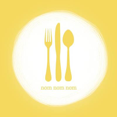 Nom Nom Nom Print by Nancy Ingersoll