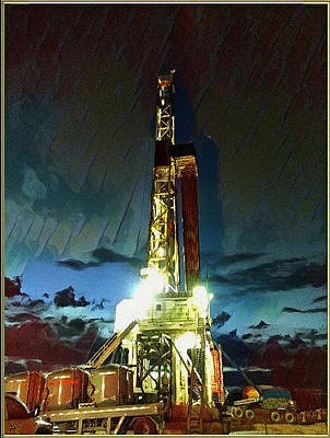 Photograph - Nomac 302 Drilling Rig by Lanita Williams