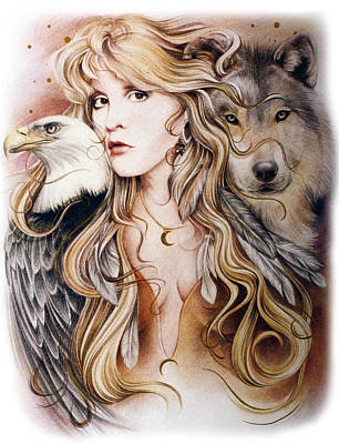 Stevie Nicks Drawing - Nomad by Johanna Pieterman