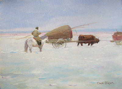 Painting - Nomadic Life No.10 by Ji-qun Chen