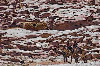 Nomads Of The Sinai Desert Art Print