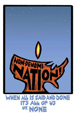 Unity Mixed Media - Non-denomination by Ricardo Levins Morales