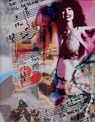Songstress Digital Art - Non Je Ne Regrette Rien by Laura Nance