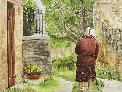 Painting - Nona In Cortona by Carol Flagg