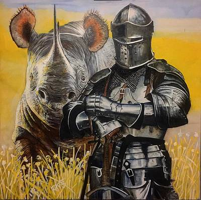 Painting - None Shall Pass by David Rhys