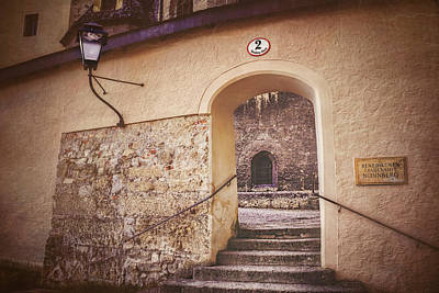 Medieval Entrance Photograph - Nonnberg Abbey In Salzburg Austria  by Carol Japp
