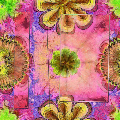 Slate Pattern Painting - Nonnegotiation Pattern Flower  Id 16164-222542-42351 by S Lurk