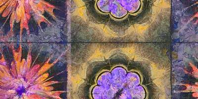 Fineness Painting - Nonroyalty Fineness Flowers  Id 16165-072832-70560 by S Lurk