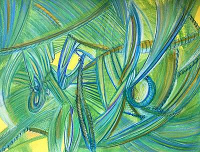 Abstract Movement Drawing - 'nonsense And Beauty' by Kelly K H B