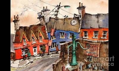 Painting -  F 744 Drink Beer Save Water In Eyeries by Val Byrne