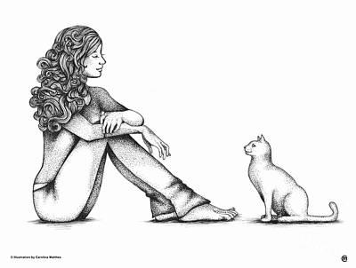 Drawing - Nonverbal Communication by Carolina Matthes