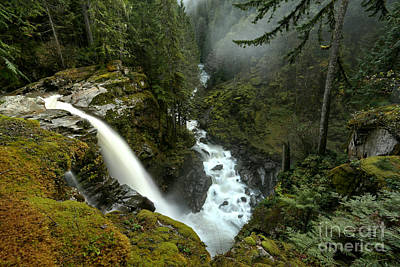 Photograph - Nooksack Falls Canyon by Adam Jewell