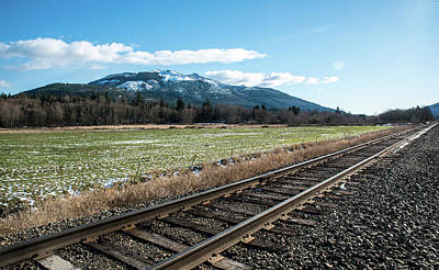 Photograph - Nooksack Valley Rail Line by Tom Cochran