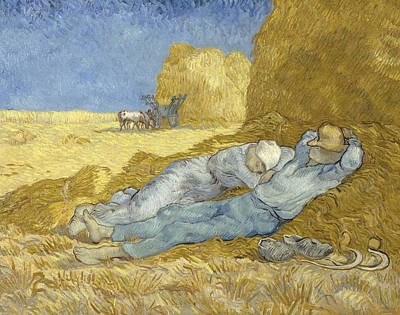 Painting - Noon Rest From Work by Vincent van Gogh