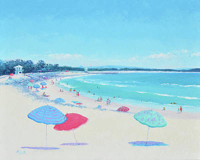 Painting - Noosa Beach Umbrellas by Jan Matson