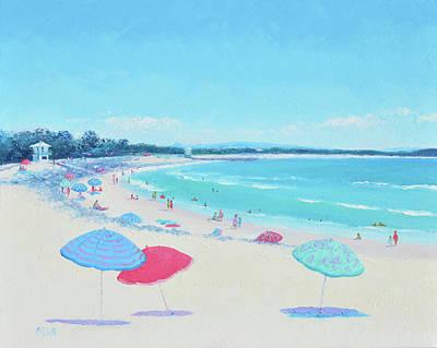 Painting - Noosa Beach Umbrellas by Jan Matson