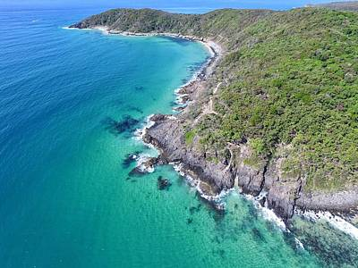 Photograph - Noosa National Park Aerial View by Keiran Lusk