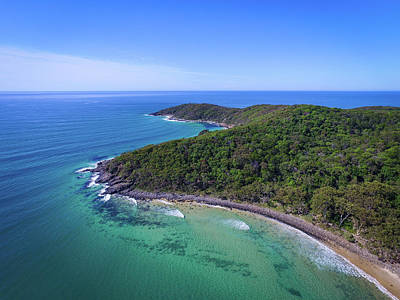 Photograph - Noosa National Park Coastal Aerial View by Keiran Lusk