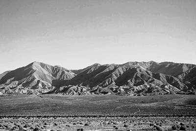 Photograph - Nopah Range Mountain Landscape Black And White by Matt Harang