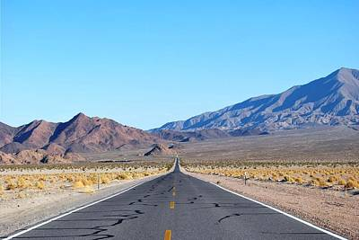 Photograph - Nopah Range Open Road Landscape by Matt Harang