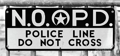 Photograph - Nopd Police Barrier by Kathleen K Parker