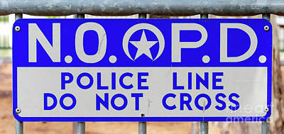 Photograph - Nopd Police Line by Kathleen K Parker