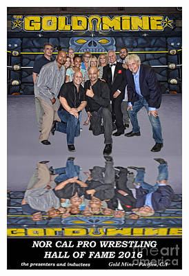 Photograph - Nor Cal Pro Wrestling Hall Of Fame 2016 Inductees And Presenters  by Jim Fitzpatrick