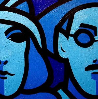 Faces Painting - Nora Barnacle And James Joyce by John  Nolan