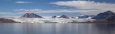 Land Of The Midnight Sun Photograph - Nordenskiold Glacier Svalbard by Mo Barton