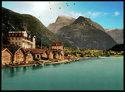 Photograph - Nordfjord Norway - Remastered by Carlos Diaz