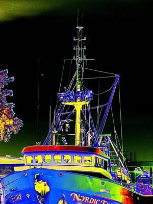 Trawler Digital Art - Nordic Fury by Tim Allen