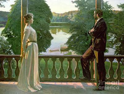 Reflecting Tree Painting - Nordic Summer Evening by Sven Richard Bergh