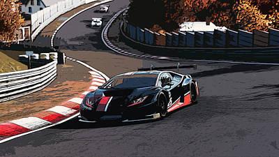 Painting - Nordschleife - Lamborghini Huracan by Andrea Mazzocchetti