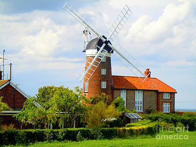 Photograph - Norfolk Broads Windmill by Anne Gordon