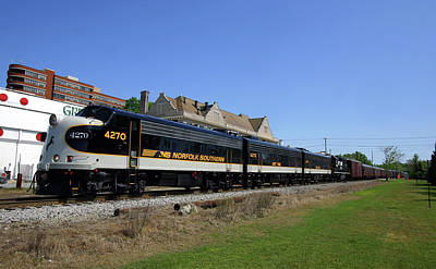 Photograph - Norfolk Southern 4270 Color by Joseph C Hinson Photography
