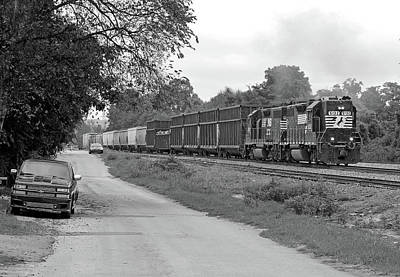 Photograph - Norfolk Southern 5132 Bw by Joseph C Hinson Photography