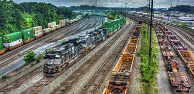 Photograph - Norfolk Southern Locomotive #2665 Atlanta Inman Intermodal Yard Art by Reid Callaway
