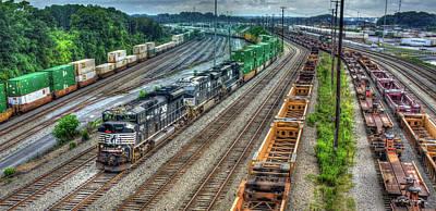 Photograph - Norfolk Southern Locomotive #2665 Atlanta Inman Intermodal Yard Art by Reid Callaway