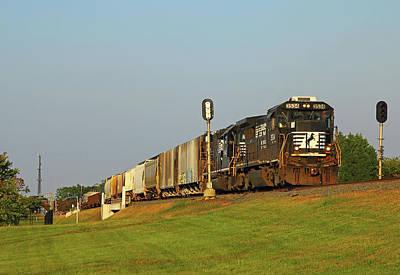 Thomas Kinkade - Norfolk Southern B32-8 #3534 a by Joseph C Hinson