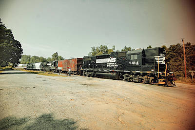 Photograph - Norfolk Southern Extension Cord Line 2005 Vintage by Joseph C Hinson Photography
