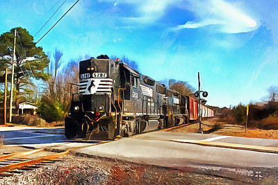 Photograph - Norfolk Southern Gp38-2 5202 by Joseph C Hinson Photography