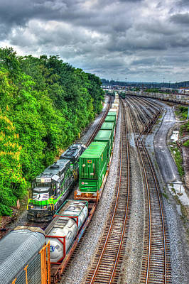 Photograph - Norfolk Southern Locomotive 648 Atlanta Train Art by Reid Callaway