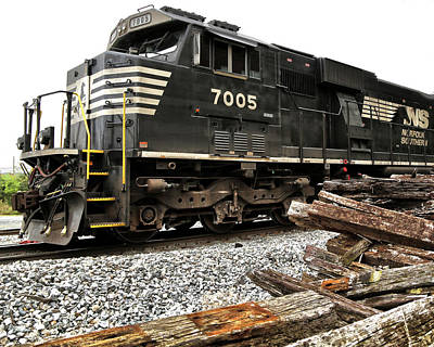 Norfolk Southern Railway Photograph - Norfolk Southern by Mitch Cat