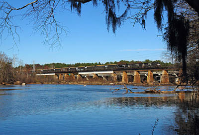 Photograph - Norfolk Southern Train Across The Broad River by Joseph C Hinson Photography
