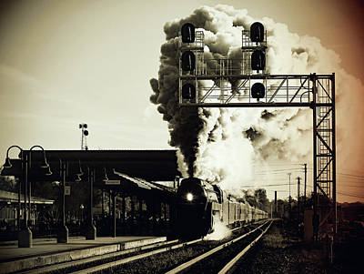 Photograph - Norfolk Western 611 Passes Salisbury Depot Vintage 1 by Joseph C Hinson Photography
